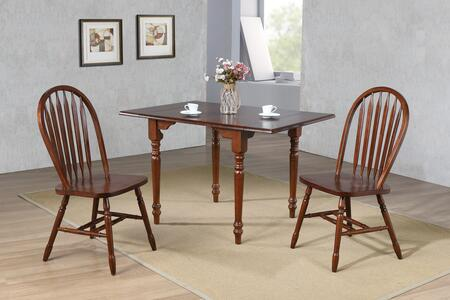 Sunset Trading Andrews DLUADW3448820CT3PC Dining Room Set Brown, Main Image