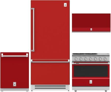 Hestan  963956 Kitchen Appliance Package Red, 1