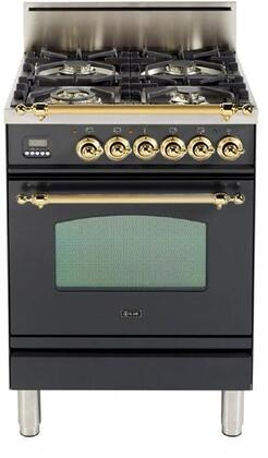 Ilve Nostalgie UPN60VGGMLP Freestanding Gas Range, UPN60VGGM Nostalgie Gas Range