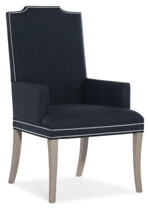 Hooker Furniture Reverie 57957550049 Dining Room Chair Blue, Silo Image