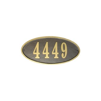 Qualarc Claremont CLAROVLBZ Address Plaques, CLAR OVL BZ
