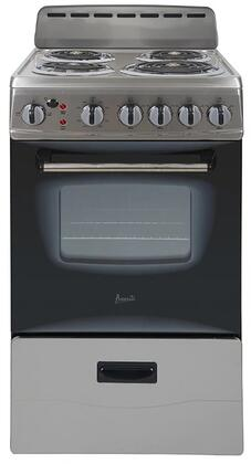 ERU200P3S 20″ Electric Range with 4 Coil Elements  2.1 cu. ft. Oven Capacity  Storage Drawer  in Stainless
