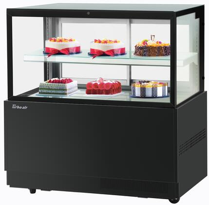 Turbo Air TBP4846FNB Display and Merchandising Refrigerator Black, TBP4846FNB Angled View