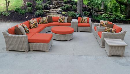 TK Classics COAST12ATANGERINE Outdoor Patio Set, COAST 12a TANGERINE