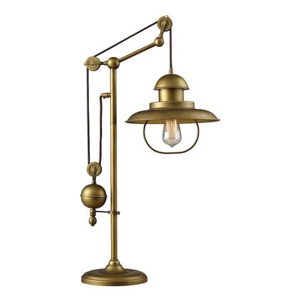 65100-1 D2252 Farmhouse Adjustable Table Lamp in Antique