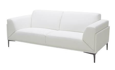 J and M Furniture Davos 18248S Stationary Sofa White, Main Image