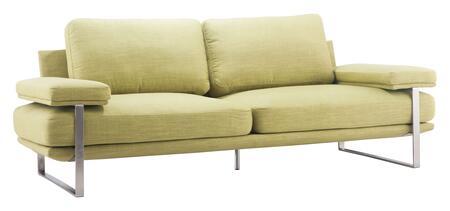 Zuo Jonkoping 900624 Stationary Sofa Green, 900624 1
