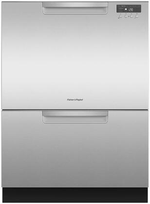 Fisher Paykel DD24DCHTX9N Built-In Dishwasher Stainless Steel, Front View