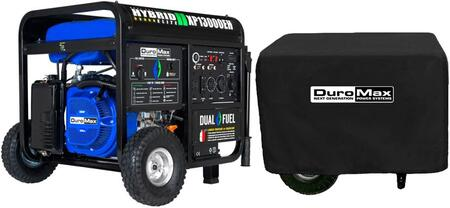 XP13000EH Portable Hybrid Dual Fuel Gas Propane Generator with 13000 Watts and XPLGC Dust Guard