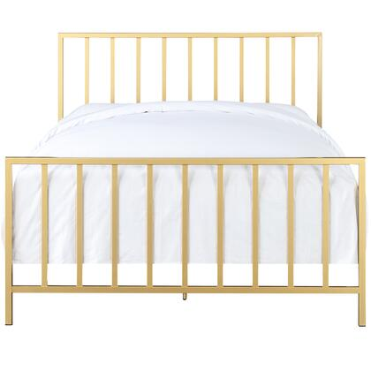 DS-D170-291-M01 Slat Style King Metal Bed in Brushed