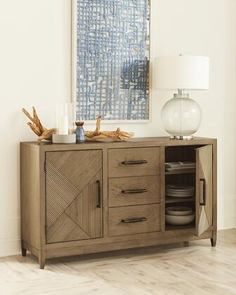 Serenity Collection D855-56 62″ Buffet with Two Shelves and Three Drawers with Over Sized Hardware Finished in Caramel