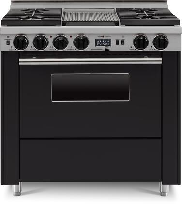 FiveStar  TTN3397W Freestanding Dual Fuel Range Black, TTN3397W Sealed Burner Dual Fuel Range
