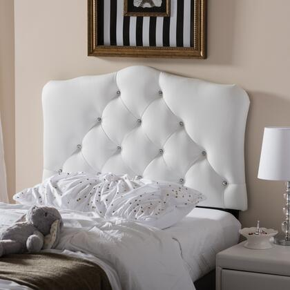 Wholesale Interiors Rita BBT6503WHITETWINHB Headboard White, BBT6503 White Twin%20HB 4