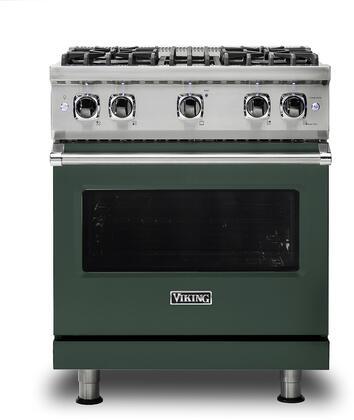 Viking 5 Series VGR5304BBFLP Freestanding Gas Range Green, VGR5304BBFLP Gas Type
