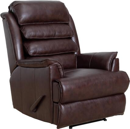 Gatlin Collection 53392370686  Big and Tall Recliner with Mortise and tenon frames with glued joints and corner blocking in Ryegate Brownstone