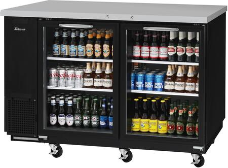 Turbo Air Super Deluxe TBB2460SGN Back Bar Cooler Black, TBB2460SGN Angled View