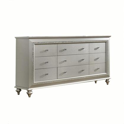 Acme Furniture Kaitlyn 27235 Dresser Gray, Angled View