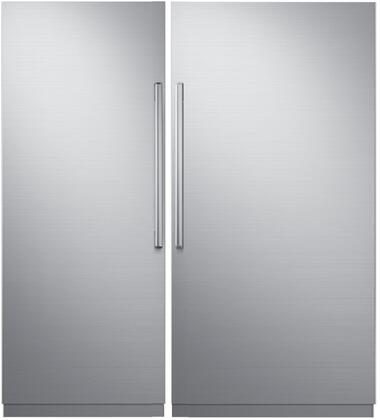 Dacor Contemporary 869400 Column Refrigerator & Freezer Set Silver Stainless Steel, 1
