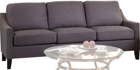 Acme Furniture Zapata Jr 53755 Stationary Sofa Gray, 1