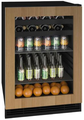 """UHBV124-IG01A 24"""" 1 Class Series Beverage Center with 5.5 cu. ft. Capacity Convection Cooling System Reversible Hinge Black Interior Digital"""