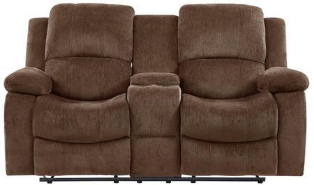 Global Furniture USA U3118 U3118CSUBARUCOFFEECRLS Loveseat Brown, Main Image