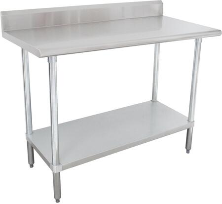 Advance Tabco  KSLAG240X Commercial Work Table Stainless Steel, Work Table with Backsplash