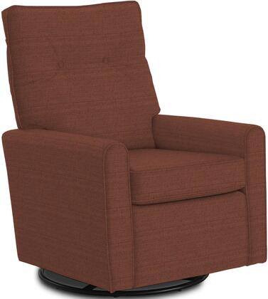 Phylicia Collection 4007-18704 Recliner with 360-Degrees Swivel Glider Metal Base  Removable Back  High Backrest  Zipper Access and Fabric Upholstery