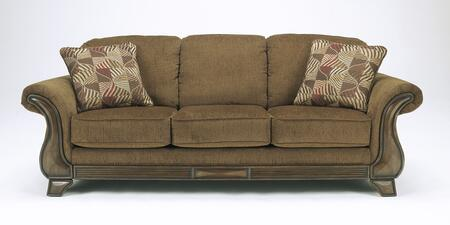 Signature Design by Ashley Montgomery 3830038 Stationary Sofa Brown, Sofa Front View