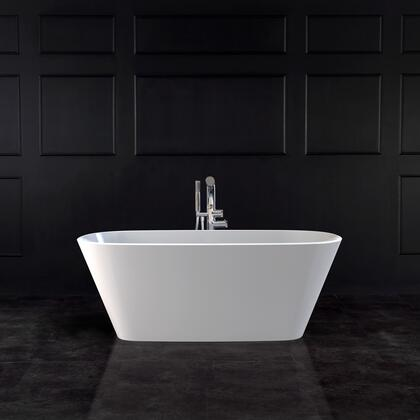 Vetralla VETM-N-SM-NO 59″ Freestanding Bathtub without Overflow  in