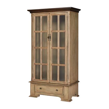 17241 Hartford Cabinet  in Creamery with Brown