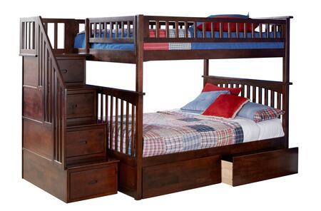 Atlantic Furniture Columbia AB55844 Bed Brown, AB55844 SILO BD2 30