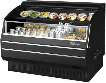 Turbo Air TOM50LBSPN Display and Merchandising Refrigerator Black, TOM50LBSPN Angled View