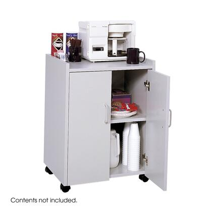 Safco 8953GR Commercial Food and Beverage Service Carts Gray, 8953GR FrontAngle 29249