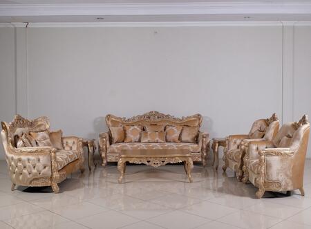 European Furniture Imperial Palace 32006SLC Living Room Set Beige, Main Image