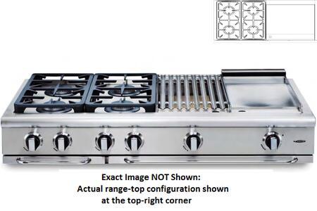 Capital Precision GRT484GL Gas Cooktop Silver, Burner Configuration