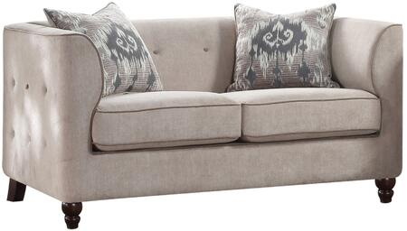 Acme Furniture Cyndi 52056 Loveseat Gray, 1