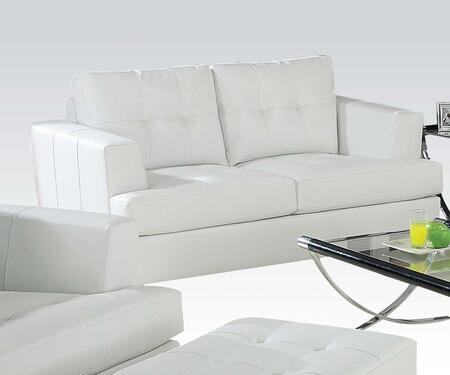 Acme Furniture Platinum 15096B Loveseat White, 1