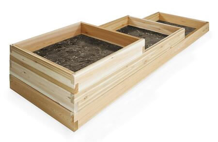 All Things Cedar  RGT15 Planters and Flower Shelf Brown, RGT15