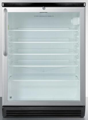 Summit  SCR600BGLTB Compact Refrigerator Silver, 1