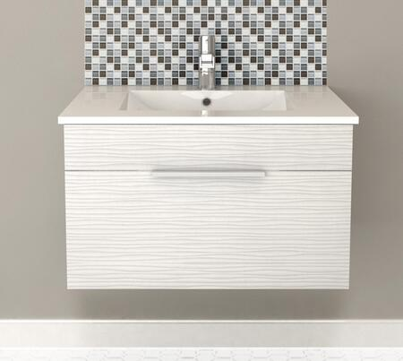 Cutler Kitchen and Bath Textures FVCW30 Sink Vanity White, Main Image