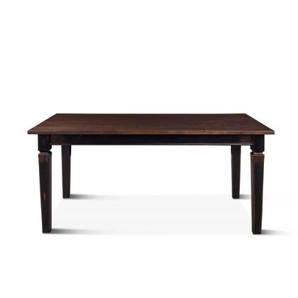 Aureille Collection ZWAUDT66EBDWF Dining Table in Dark Walnut