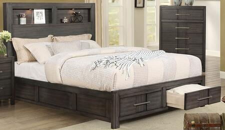 Furniture of America Karla CM7500GYXBED Bed Gray, 1