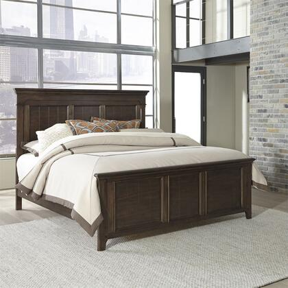 Liberty Furniture Saddlebrook 184BRQPB Bed Brown, 184 br kpb