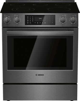 HEI8046U 30″ 800 Series Slide-in Electric Range with 5 Elements  4.6 cu. ft. Capacity  European Convection and Warming Drawer   Smoothtop