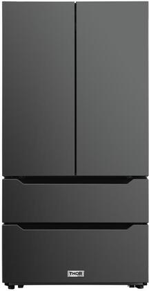 Thor Kitchen  HRF3602BS French Door Refrigerator Black Stainless Steel, HRF3602BS Front View