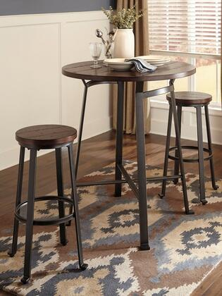 Signature Design by Ashley Challiman D30713130(2) Dining Room Set Brown, 1