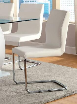 Furniture of America Lodia I CM3825WHSC2PK Dining Room Chair White, Main Image