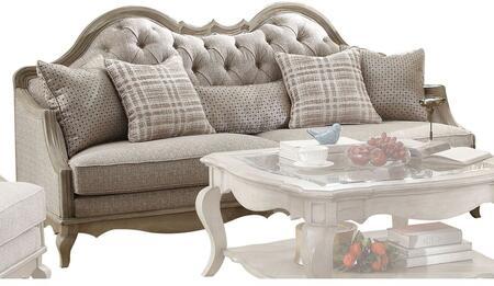 Acme Furniture Chelmsford 56050 Stationary Sofa Beige, Sofa