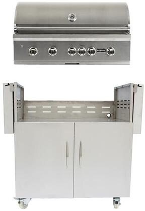 C1SL42LP 42″ S-Series Freestanding Liquid Propane Grill with 4 Infinity Burners  1 Rotisserie  1 Sear Burner  and 1275 sq. in. Cooking Surface  in