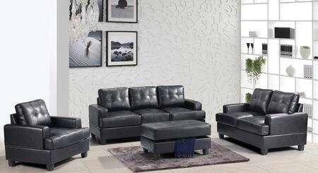 Glory Furniture G583ASET Living Room Set Black, 3 PC Set